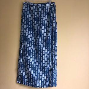 Easy Spirit 100% Linen Tie Dye Maxi Skirt